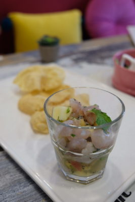 Scissors Paper Stove At Teck Chye Terrace, Communal Dinning with Local-Twist Western Dishes - Tapas, Ceviche ($11.50 / $7.50-V)