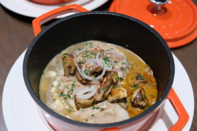 So France Bistro and Epicerie Dishing Hearty Authentic French Food - Cocotte de poulet supreme aux champignons / Chicken mushroom stew ($24)