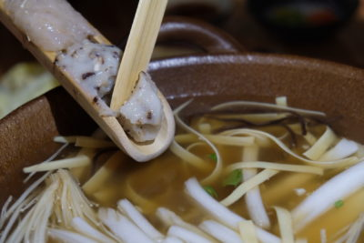 Yuzutei At Pasir Pahang Road Offers Flavourful Yuzu Shabu Shabu And Hot Stone Grill - Adding in meat paste