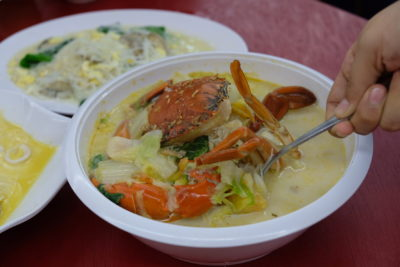 Fuman Seafood Tzechar At Tampines West, Crab And Mee Hoon And More - XO Crab Bee Hoon Soup