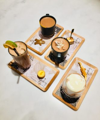The Dark Gallery @ Takashimaya, A New Cafe And Chocolate Boutique - Signature Drinks Platter: Four Senses Of Chocolate ($10)