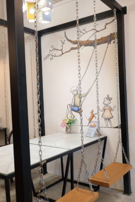 Good Old Days Bistro At Beach Road With Playful Interior - Table with swing seats