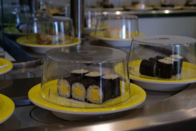One Sushi Serving Sushi On Conveyor Belt At Yishun Town Square - Sushi On Conveyor Belt