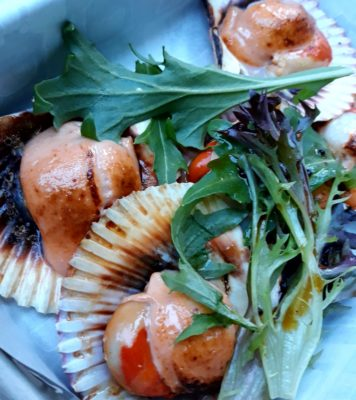 One Faber Group @ Sentosa Grillfest – Half Shell Scallop with Mentaiko Gratin