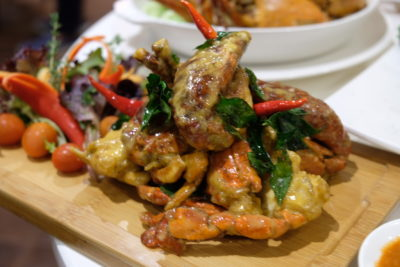 Ginger At PARKROYAL On Beach Road Dishing Pincer Feast - Salted Egg Yolk Crab