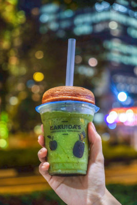 K For Kakuida's And For Kurozu Is At Icon Village With Delicious And Yet Healthy Donut & Drinks - Passionfruit Match Ice Blended ($6.50)
