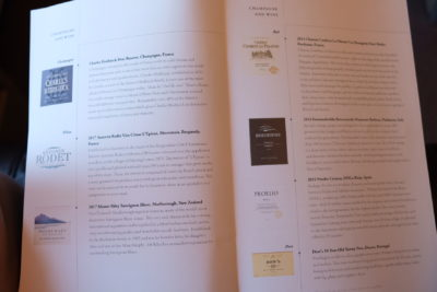 Singapore To Mumbai On SQ424 Business Class, Airbus A380-800 - Champagne And Wine Menu