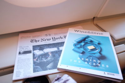 Singapore To Mumbai On SQ424 Business Class, Airbus A380-800 - Magazine and Newspaper Selection