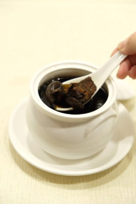 First Culinary Special Black Garlic Set Menu, Nutritiously Delicious - Double-boiled Black Garlic Soup
