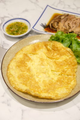 Go-Ang Kaomunkai Pratunam Chicken Rice Awarded Michelin Bib Gourmand In Thailand Is Now At Nex - Chai Poh Omelette (S$5.50)