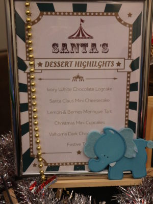 Santa's Christmas Circus Festive buffet at Mercure Singapore Bugis - Dessert Menu