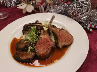 Santa's Christmas Circus Festive buffet at Mercure Singapore Bugis - Grilled lamb and beef