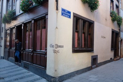 Chez Yvonne Strasbourg, A Long Established With Michelin Plate Award - Overview Facade
