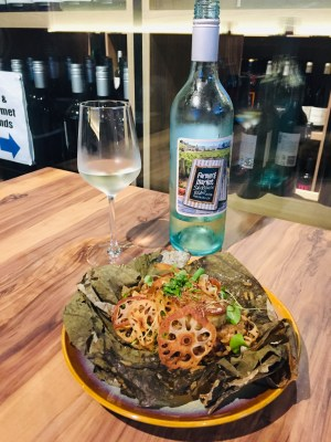 Wine & Gourmet Friends, Exclusive Wines Boutique And Restaurant - Foie Gras Lotus Leaf Rice ($18)