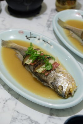Crystal Jade Jiang Nan Reopens At VivoCity Showcasing Jiang Nan And Sichuan Specialties - Steamed Yellow Croaker with Chinese Wine ($28.80/portion, 400g)