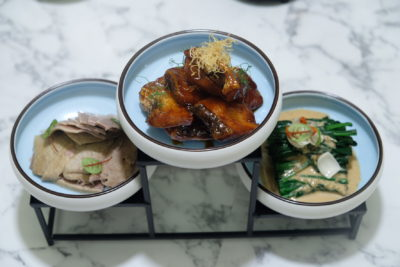 Crystal Jade Jiang Nan Reopens At VivoCity Showcasing Jiang Nan And Sichuan Specialties - Three Delicacies Platter ($16.80)