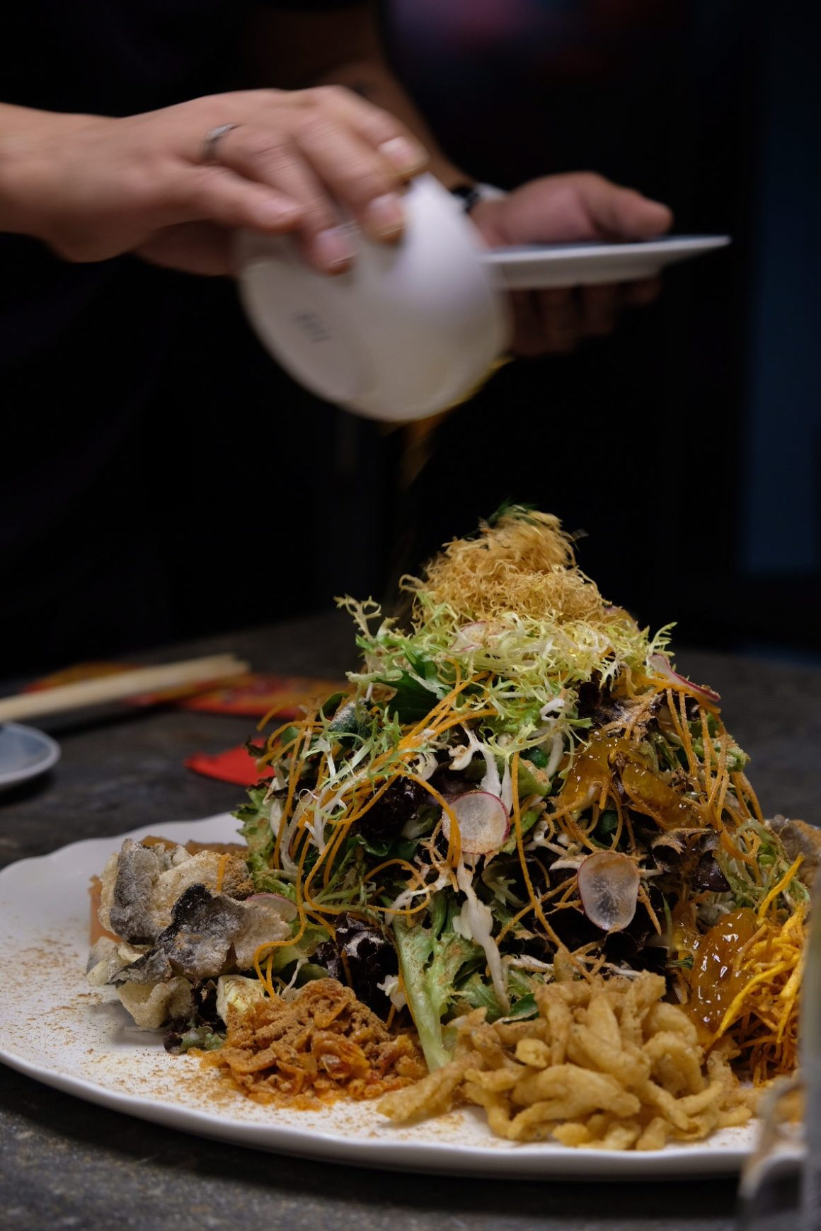 Best restaurants For Your Chinese New Year 2019 Reunion Dinner In Singapore - Blue Lotus Yu Sheng ($48++or $68++)