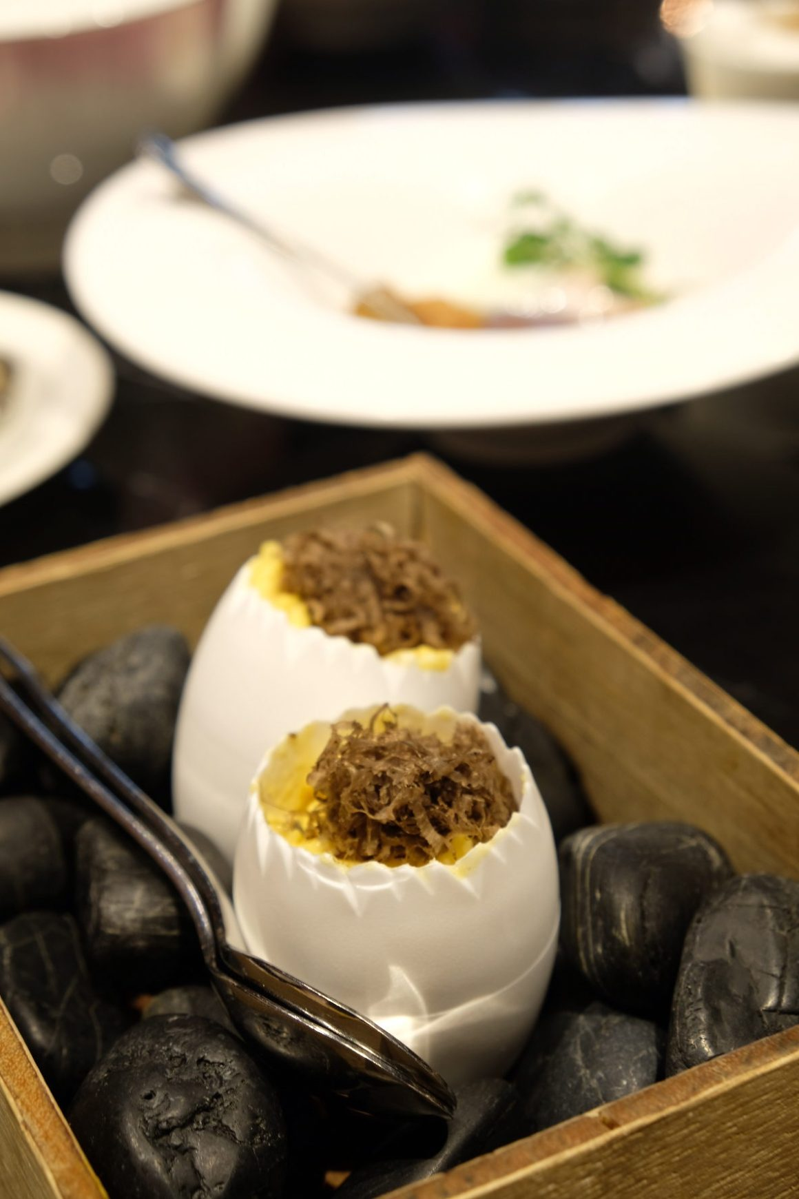 Anti:dote Afternoon Tea, Fairmont Singapore - Seasonal truffles, slow-cooked egg with chives