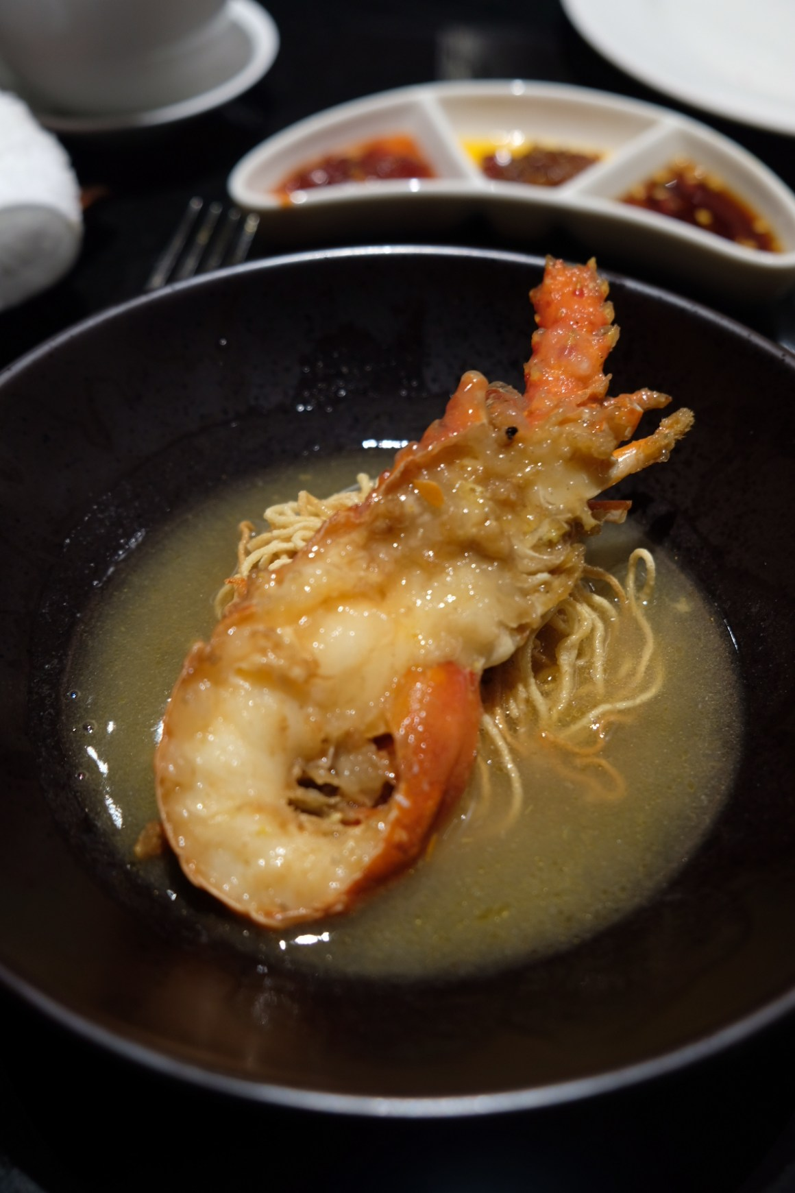 A Tale of Twin Baby Lobster At Si Chuan Dou Hua Restaurant @ PARKROYAL on Beach Road - Crispy Noodles with Baby Lobster