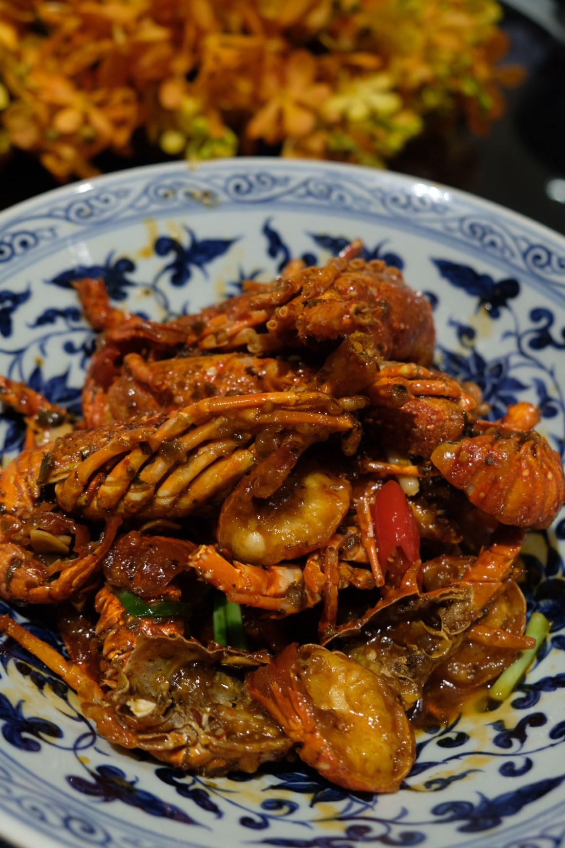 A Tale of Twin Baby Lobster At Si Chuan Dou Hua Restaurant @ PARKROYAL on Beach Road - Stir-fried Baby Lobster in Sichuan Style