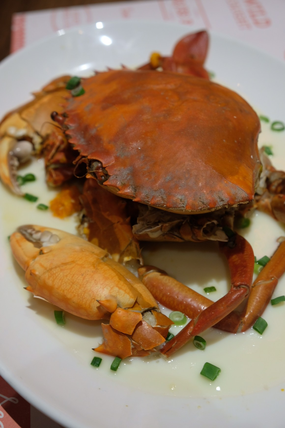Brand New Crab Menu By Pince & Pints - Whole Steamed Crab in Egg White
