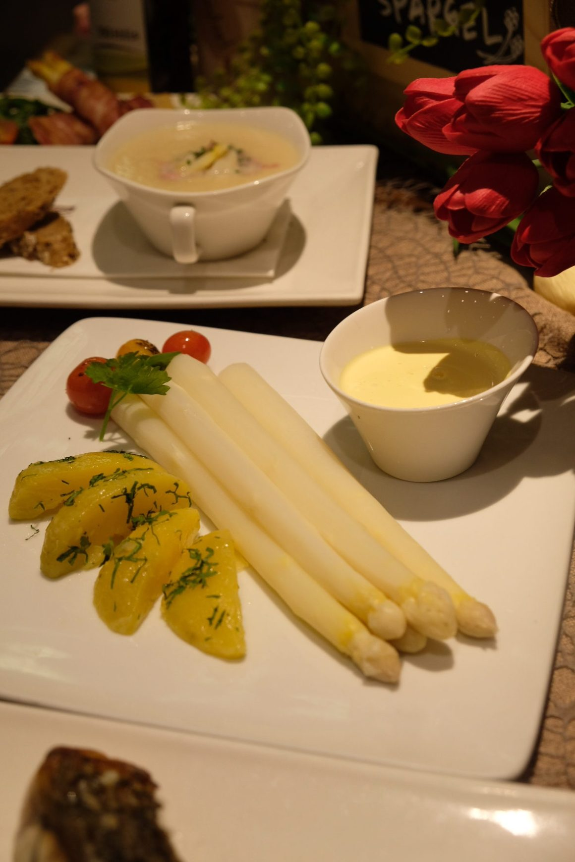 White Asparagus Special At Brotzeit Singapore - Der Spargel-Klassiker ($28)