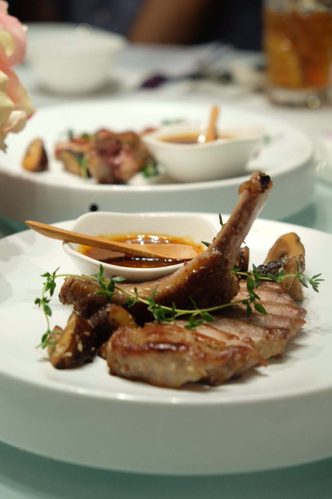 Parents' Day Promotion At Crystal Jade - Chargrilled Iberico pork rib ($26.80/portion)