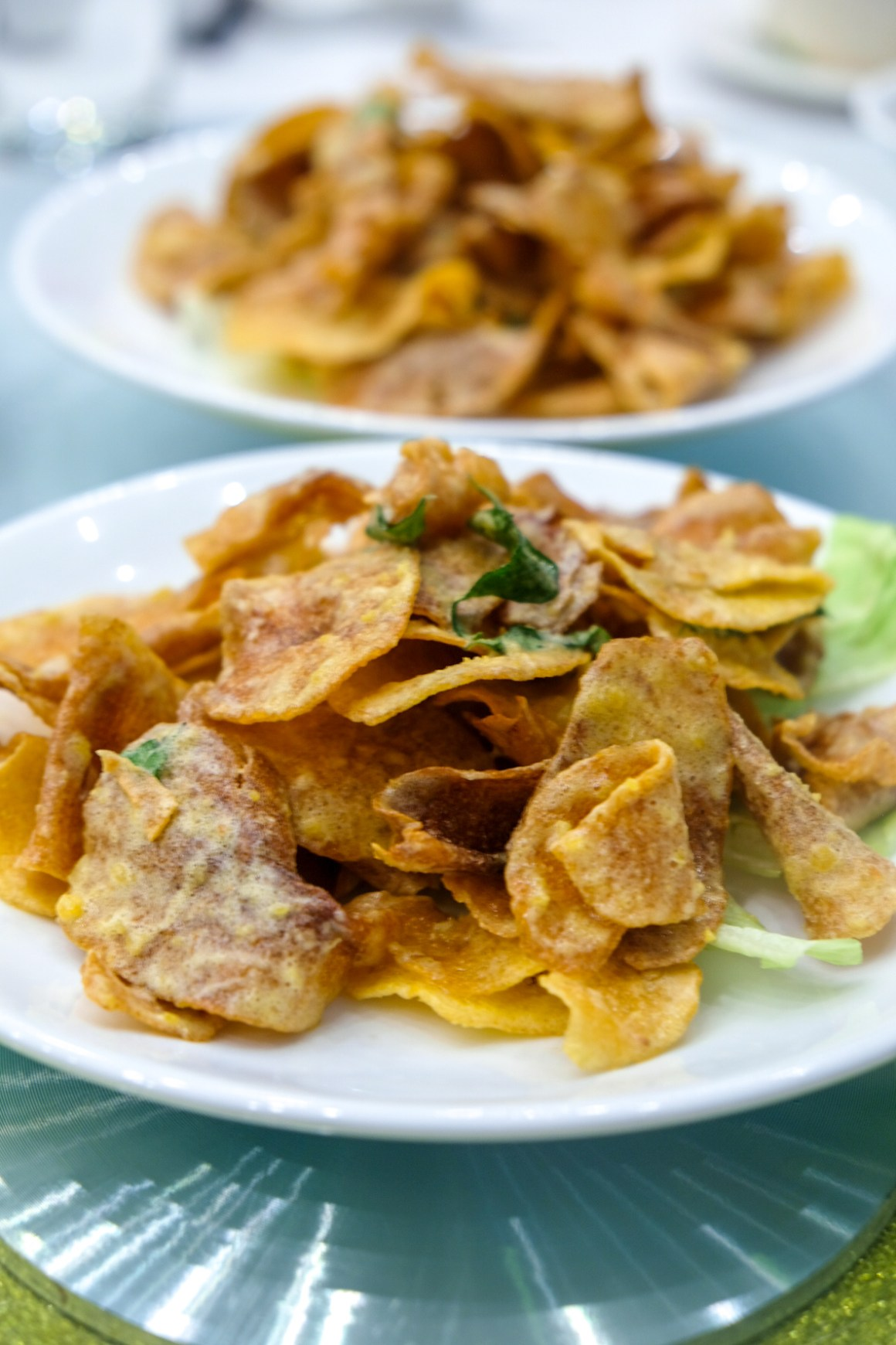 Crispy Fried Potato Slices with Salted Egg Yolk ($12)