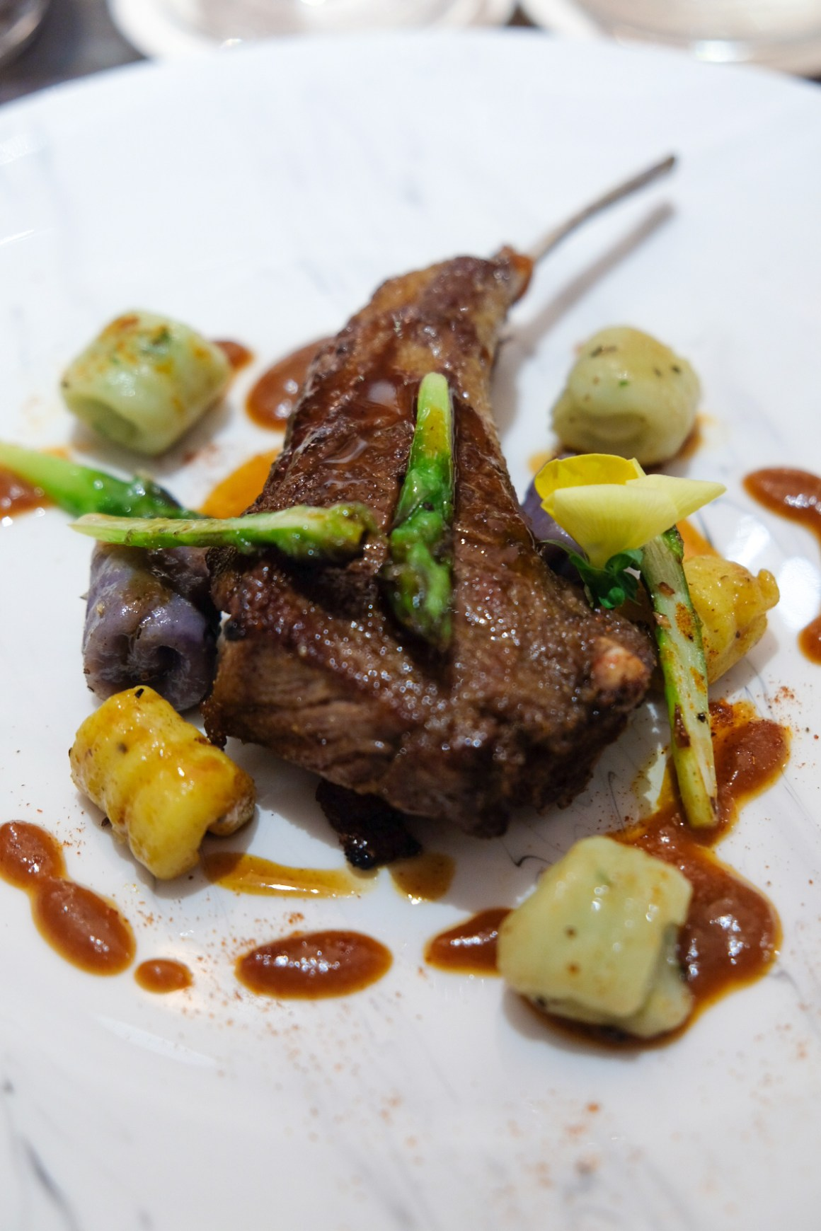 French Master Chef Roland Durand Is At Ginett Restaurant & Wine Bar - Carre D'agneau Roti Au Cumin ($40)