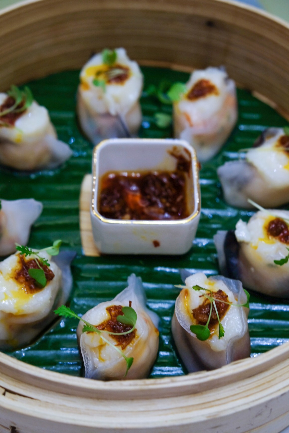 Steamed XO scallop dumpling wrapped in 'marbled' skin ($8.80 for 3 pcs)