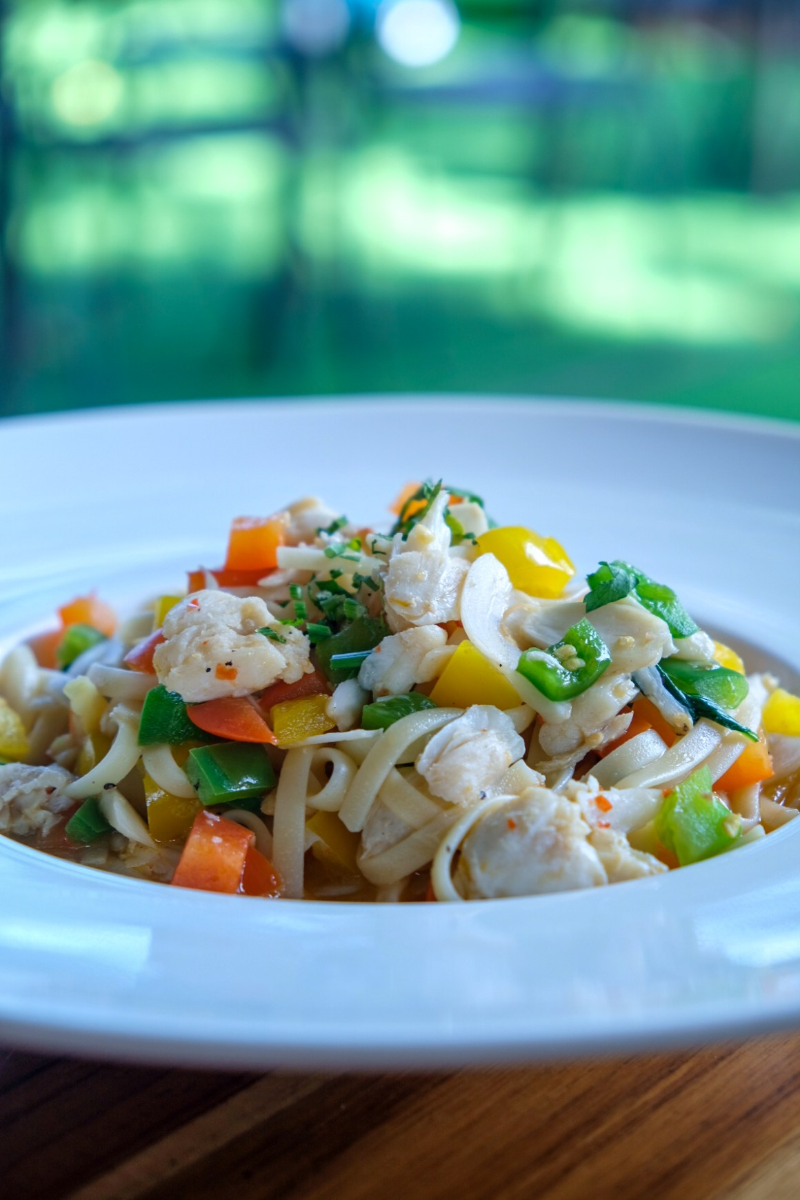 RedDot Brewhouse @ Dempsey, Dog-friendly - RedDot Spicy Crab Meat Linguine ($22)