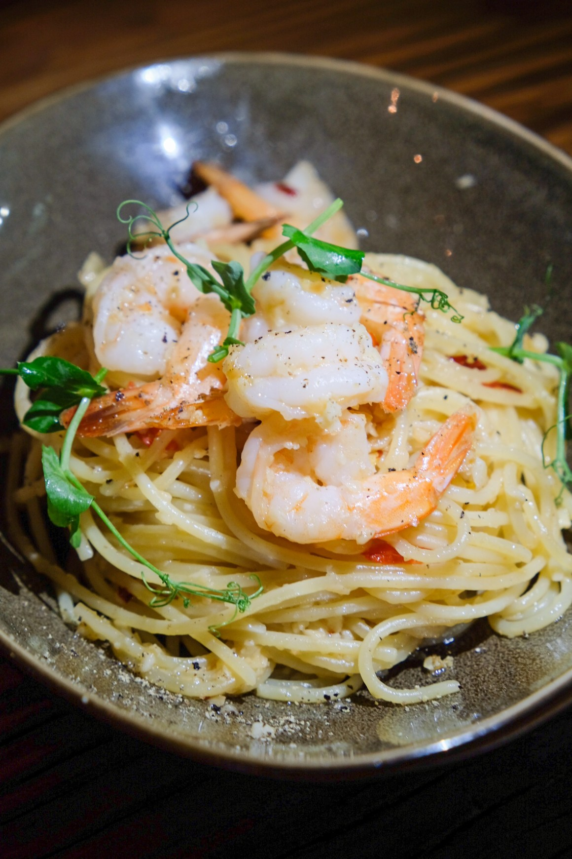 Farmers And Chefs Serving Hearty Wholesome Food - Prawn Aglio Olio ($13)
