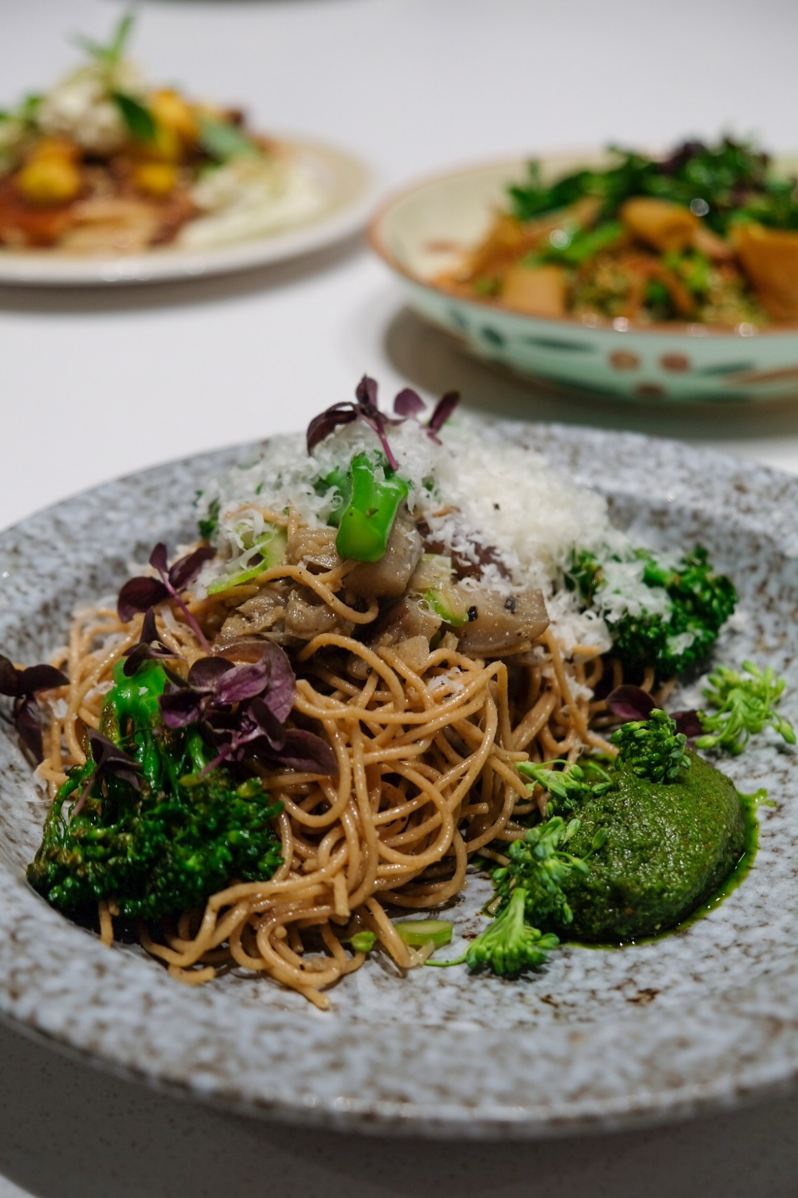 Tiong Bahru Bakery Diner New Menu By Chef Paul Albert - Miso Whole Wheat Spaghetti with Broccolini ($19)