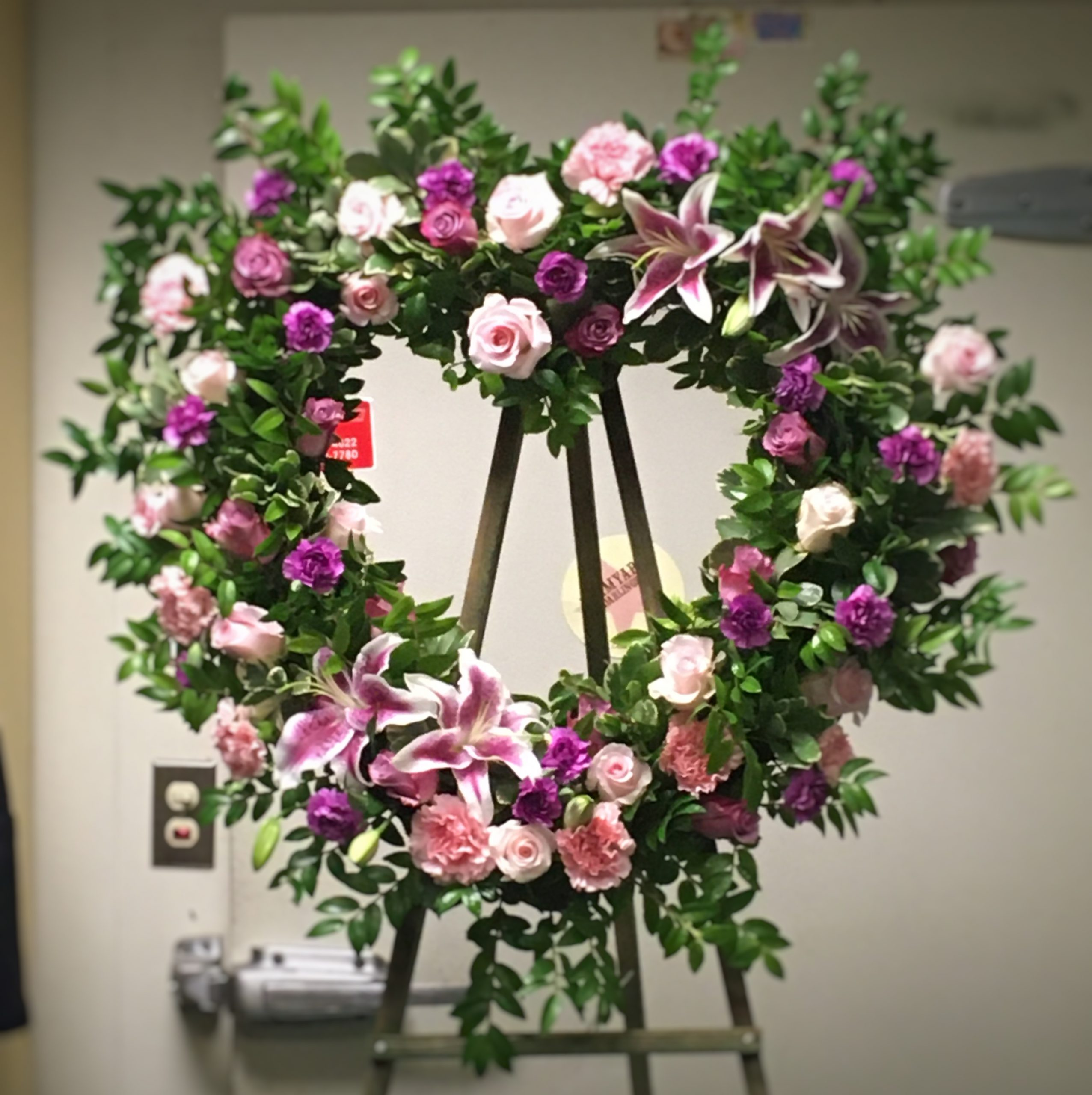 Sweet Heart Sympathy Wreath