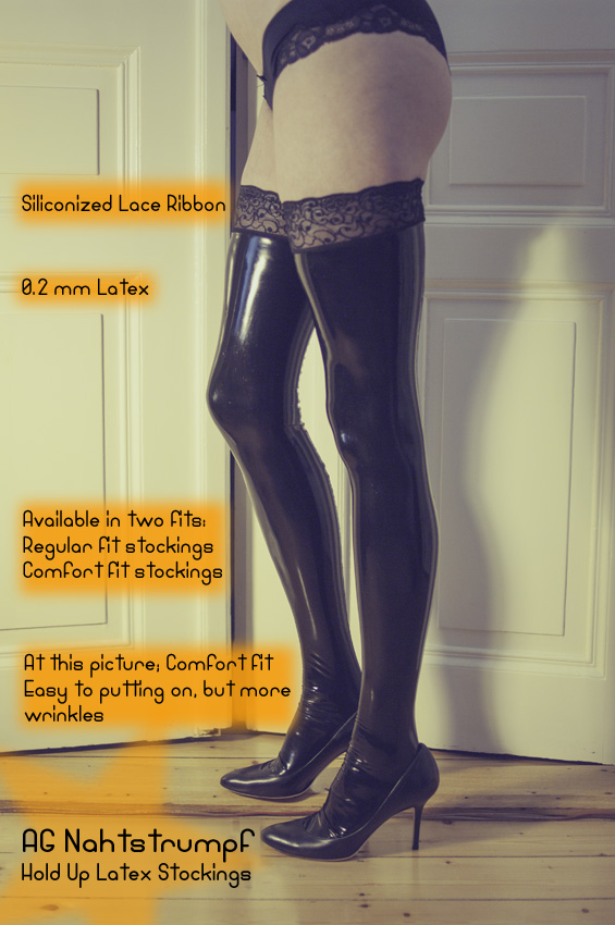 lace top latex stockings