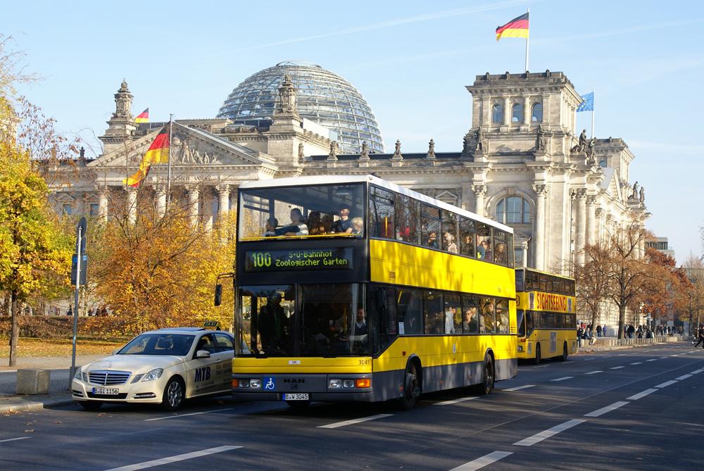 Probeeinsatz Doppeldecker Buslinie 34 Frankfurt am Main