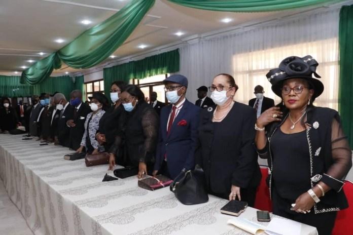Ikpeazu swears in President of Abia Customary Court of Appeal