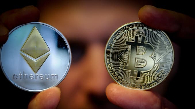 Cryptocurrency market value tops $2 trillion for the first time as ethereum hits record high