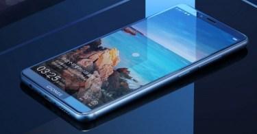 Gionee-M7 screen-blue