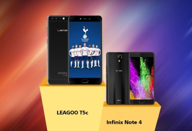 leagoo t5c vs infinix note 4
