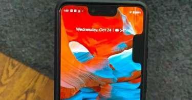 Google Pixel 3 XL Display Notch Bug