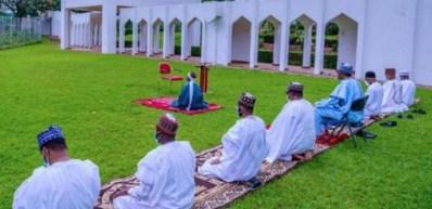 President Buhari family observe prayers at Villa