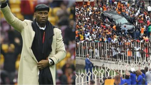 Drogba mobbed by thousands of fans as he joins Ivory Coast FA presidential contest