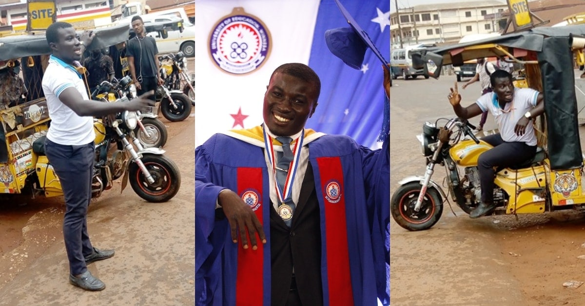Man who rode okada to sponsor himself graduates as best student with 3.96 GPA