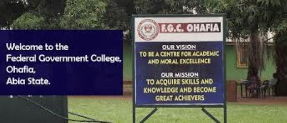 Federal Government College Ohafia, (FGC) Abia State
