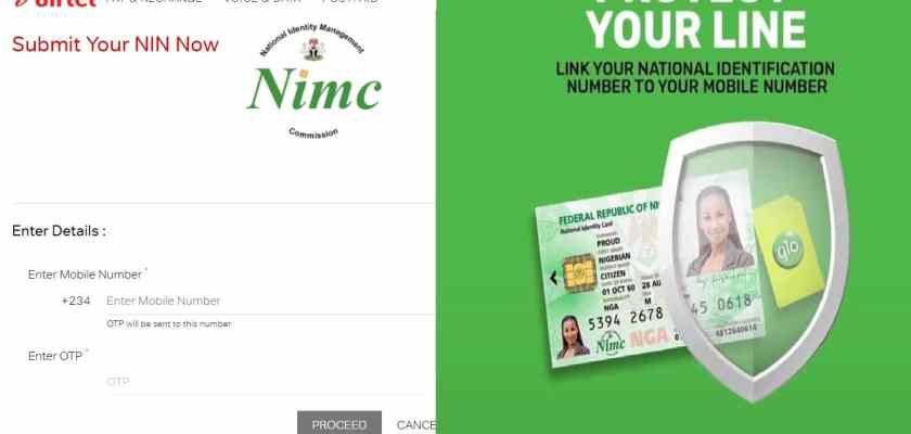 Link NIN to Phone Number Glo and Airtel