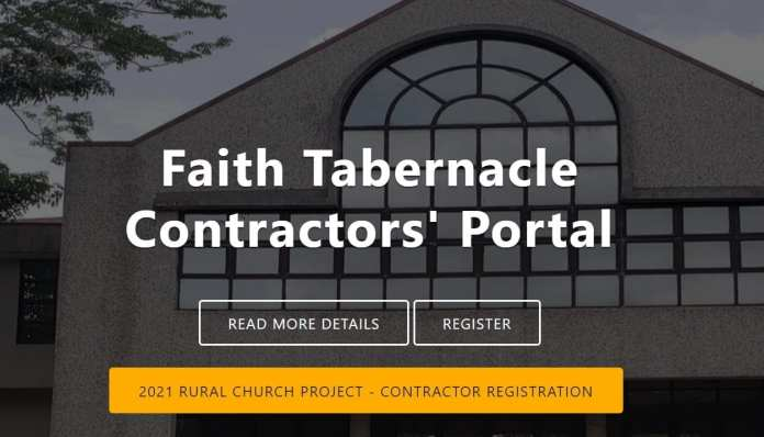 Faith Tabernacle Contractor registration