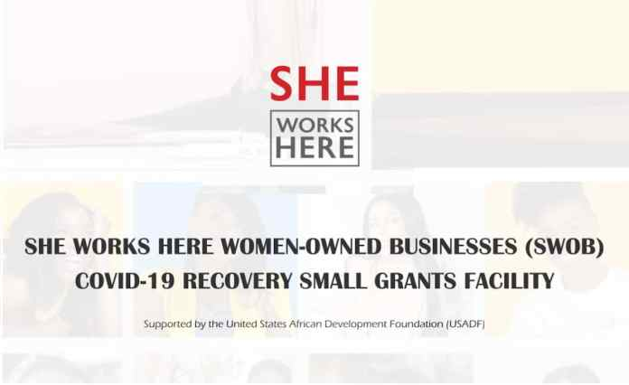 She Works Here COVID-19 Recovery Small Grants