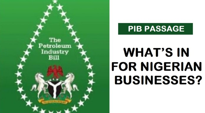 Petroleum Industry Bill - PIB - Nigerian Business