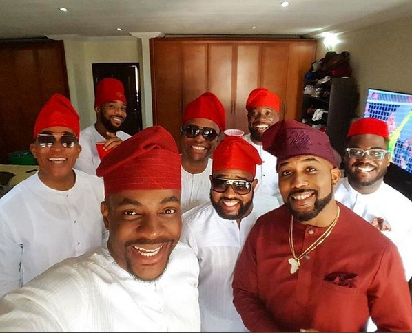 Banky W Does His Marriage Introduction, Steps Out With His Guys (Photos)